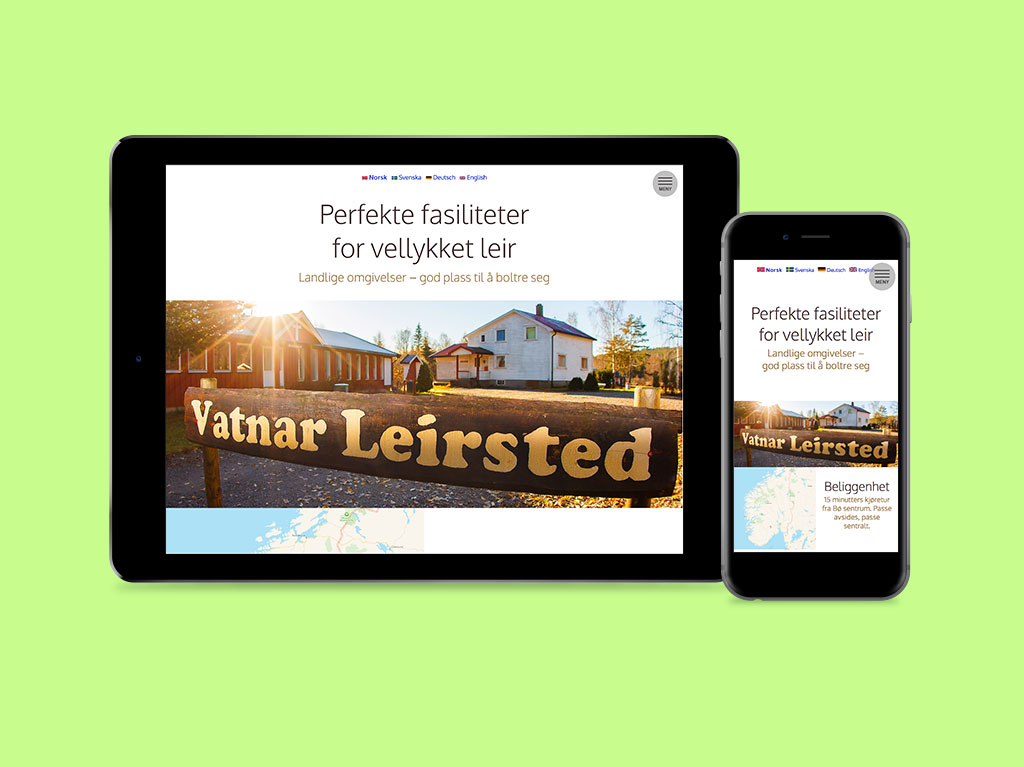 Shaper Media - webside for Vatnar Leirsted